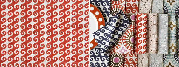 Colorful-patterned-table-linens