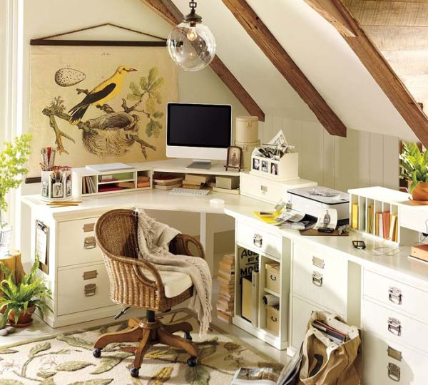 Compact home office that still sports plenty of visual appeal 20 Home Office Design Ideas for Small Spaces