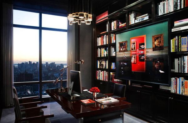 view in gallery contemporary home office in new york with sleek - Contemporary Home Office Design