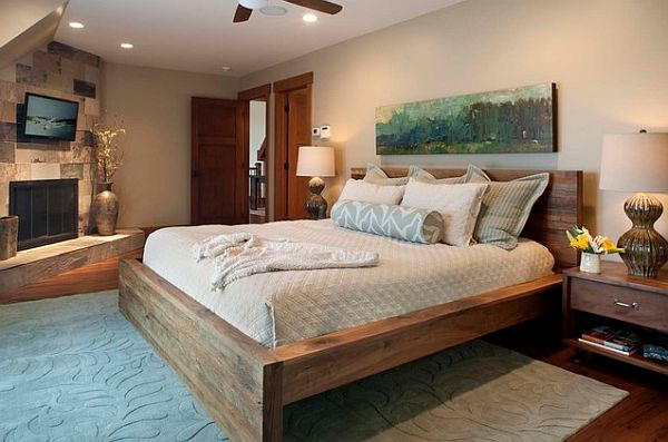 rustic bed wood frame by neil kelly design view in gallery cool