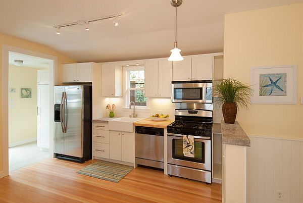 View In Gallery Cottage Remodel U2013 Beautiful Clean Lines Kitchen