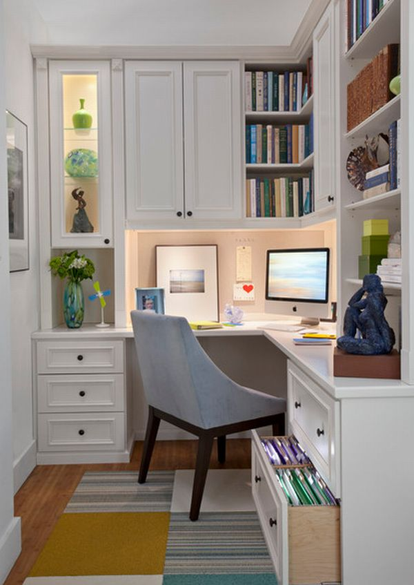 20 home office design ideas for small spaces for Small office area