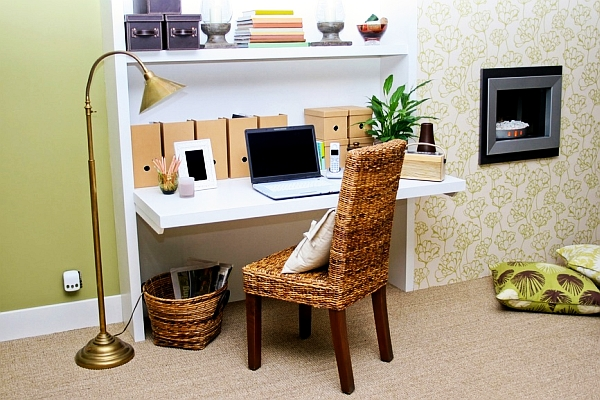 cute little office space design is all about keeping it simple