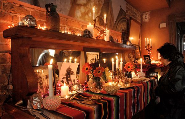 Dia de los Muertos Altar Walk Upscale Halloween Decor Ideas For a Spooky Holiday