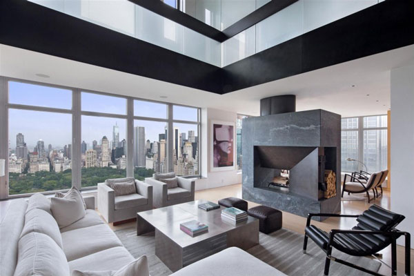 spectacular manhattan penthouse with impressive city views. Black Bedroom Furniture Sets. Home Design Ideas