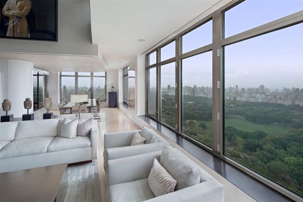 Spectacular manhattan penthouse with impressive city views for New york city penthouses central park