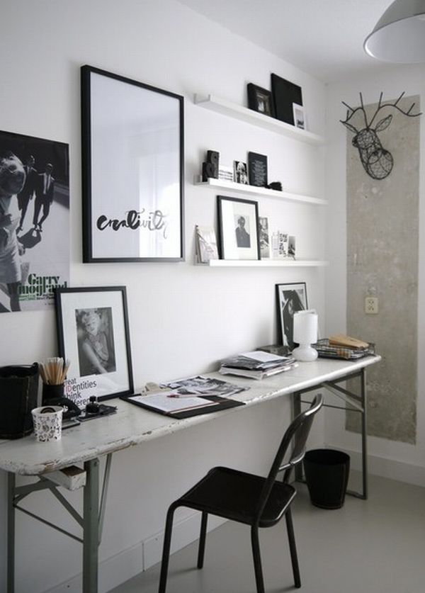cool minimalist home office space idea eclectic home office with