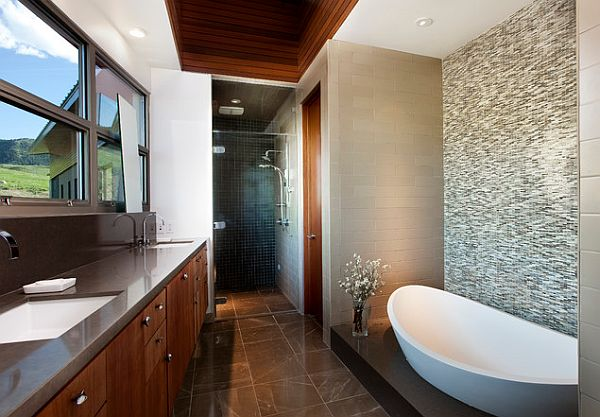 View In Gallery Elegant Bathroom Tile Flooring