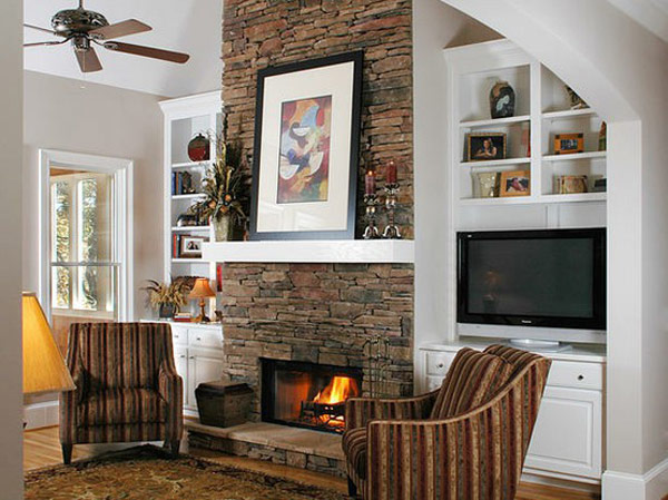 stone company view in gallery - Stone Fireplace Design Ideas
