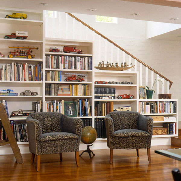 home library unit comes with a spot to perch at the top ergonomic home