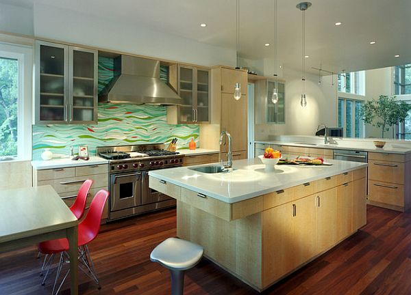 View In Gallery Exquisite And Artistic Kitchen Backsplash Design