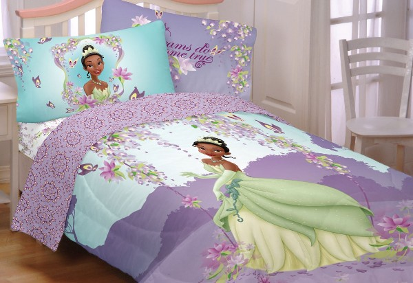 Exquisite purple Princess and the frog bed sheet