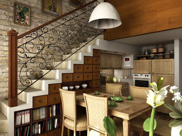 Extravagant shelf space under the stairway 40 under stairs storage space and shelf ideas to maximize your interiors in style