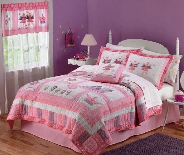 Fairy princess garden bedding in quilt decoist for Fairy princess bedroom ideas