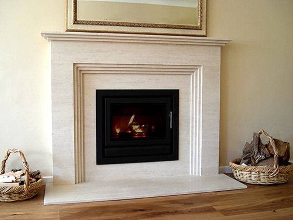 40 stone fireplace designs from classic to contemporary spaces for Marble for fireplace surround