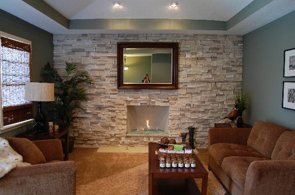 Gas fireplace for compact modern homes
