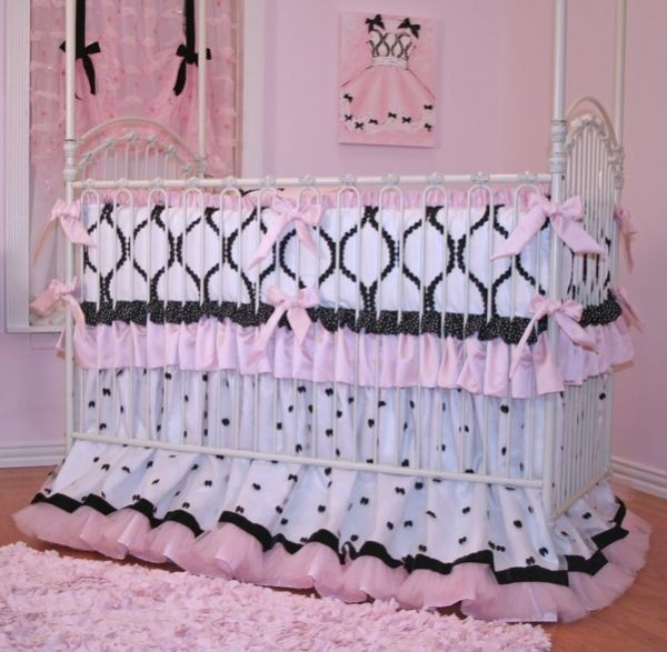 Gorgeous Chanel Crib Bedding for Girls