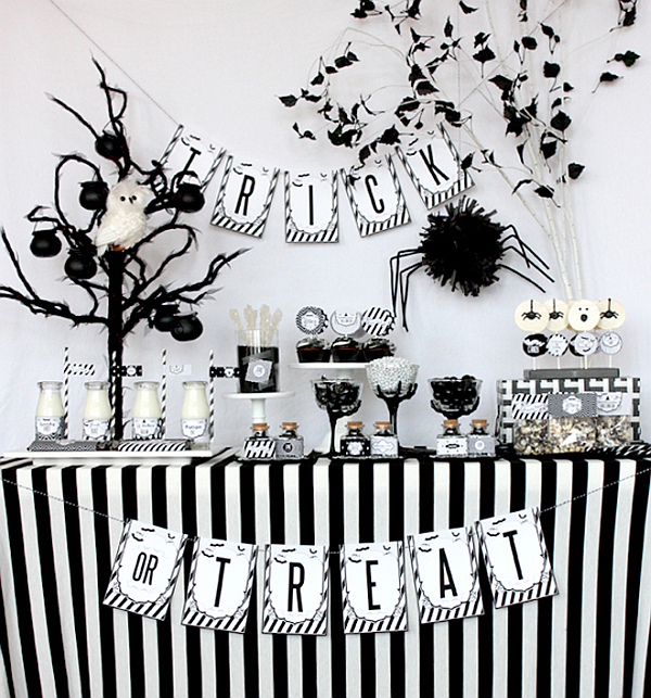 halloween party ideas chic halloween party ideas in contemporary black