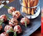 A festive appetizer plate
