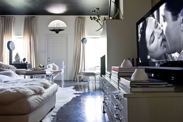 How to decorate with an old hollywood style for Hollywood glam living room ideas