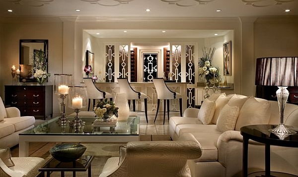 View in gallery Hollywood flair living area How to Decorate with an Old Hollywood Style