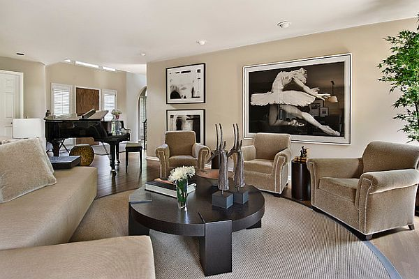 How to decorate with an old hollywood style for Neutral color furniture
