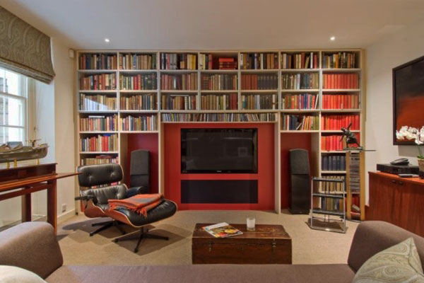 In Gallery Home Library Design