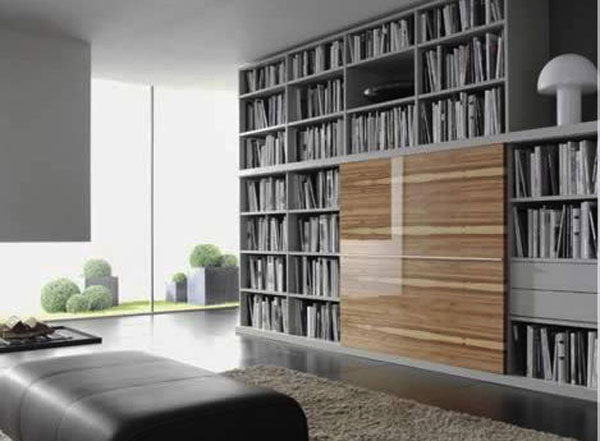 Home-library-that-is-a-minimalists-delight