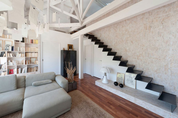 in gallery - Living Room Design With Stairs