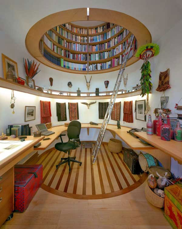View in gallery Jaw-dropping home library ...