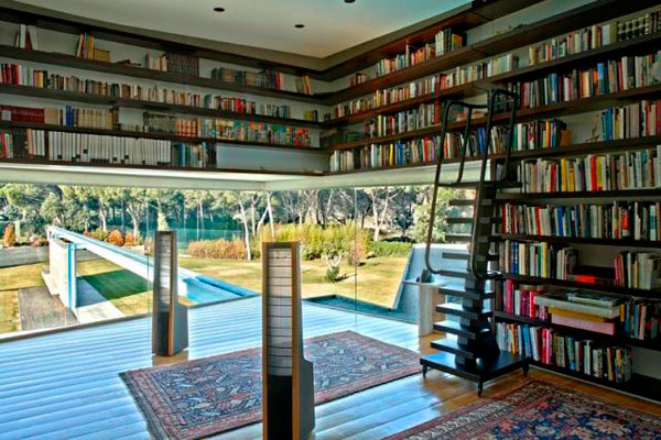 View in gallery lavish and spacious library perfect for book lovers