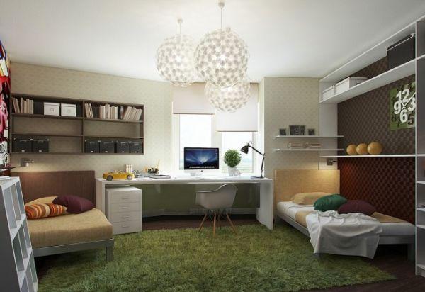 Lavish-teen-bedroom-with-a-sleek-work-station