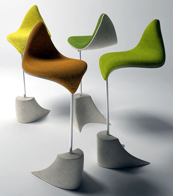 Autumn Inspiration 10 Modern Leaf Inspired Chair Designs : Leaf bar stool from www.decoist.com size 600 x 681 jpeg 49kB