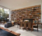 Living room library at the Goodman Residence/ by Abramson Teiger Architects