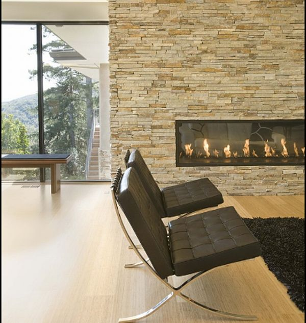Modern Stone Fireplaces 40 stone fireplace designs from classic to contemporary spaces