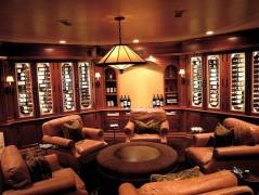 Man cave idea - elegant design for a wine tasting room