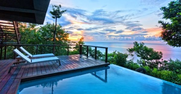 Mesmerizing sunset at the Zabuco Honeymoon Villa 12 Lavish Luxury Hotels Promise Opulence Hidden Away From The World