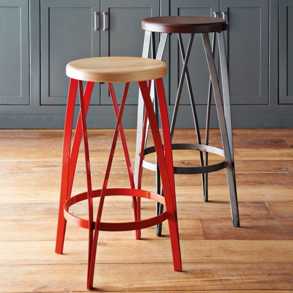 breakfast bar stools red 1