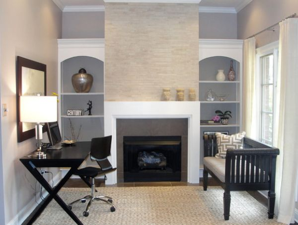 20 home office design ideas for small spaces Home office design color ideas