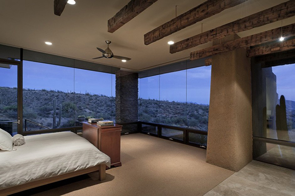 Modern Desert House - bedroom view