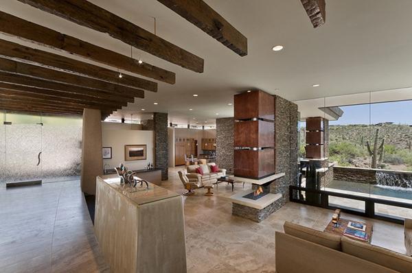 Modern Desert House – expansive living area