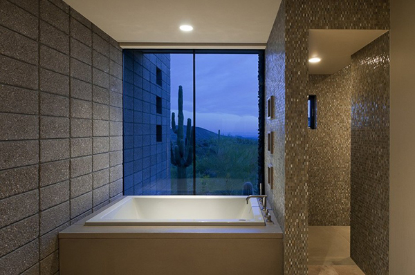 Modern Desert House – stylish bathroom