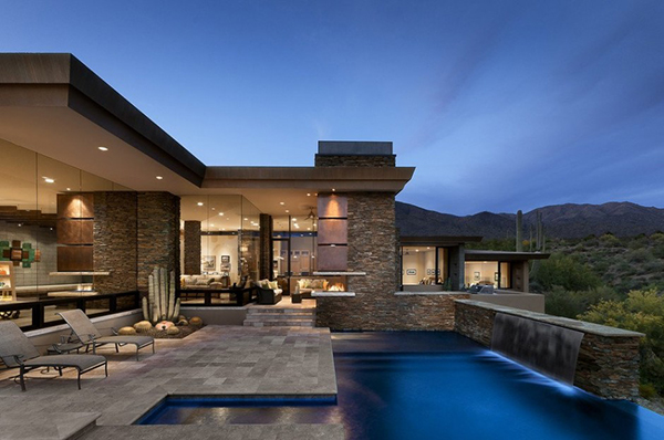 Modern Desert House stylish outdoors Desert Home in Arizona Has Spacious Interiors and Stunning Outdoors