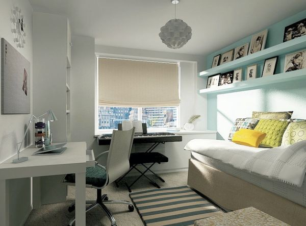 Modern Teen work space in neutral shades