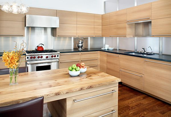 View In Gallery Modern All Wood Kitchen Furniture And Cabinets