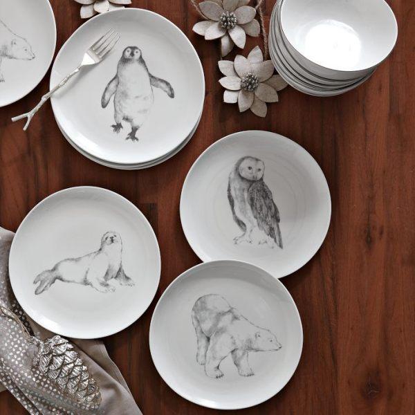 Modern-animal-dessert-plates