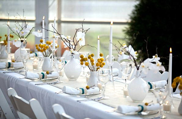 View In Gallery Modern Vases On A Party Table