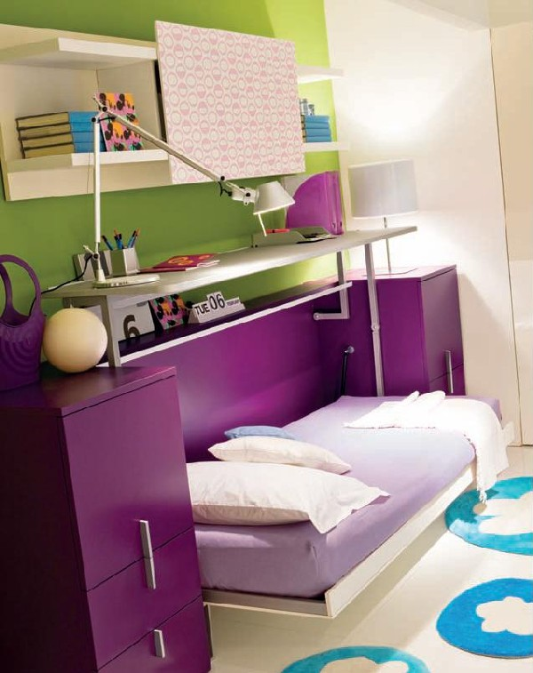 Multifunctional bedroom that sports space-saving workstation