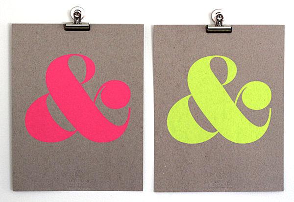 Neon ampersand artwork