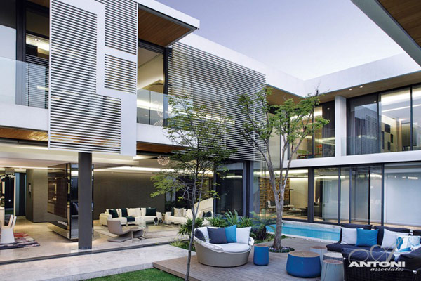 Opulent-modern-home-in-Houghton-open-space-living-room